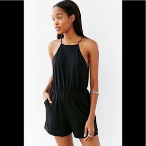 NWT Silence + Noise High-Neck Seamed Romper